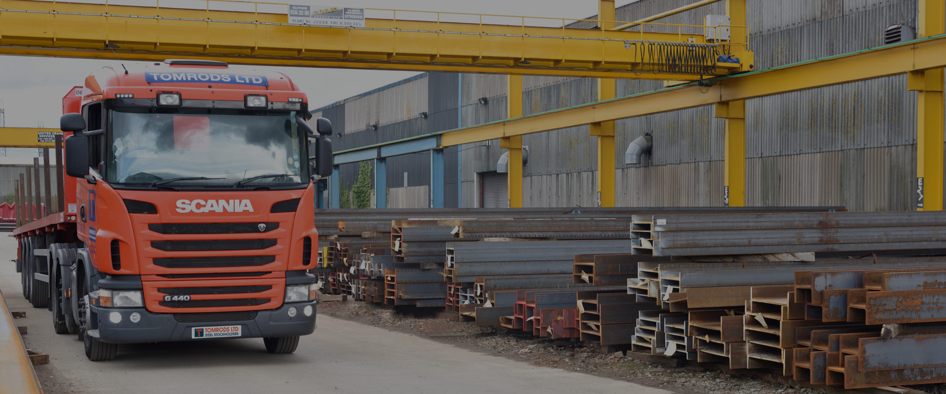 Lorry and stock yard