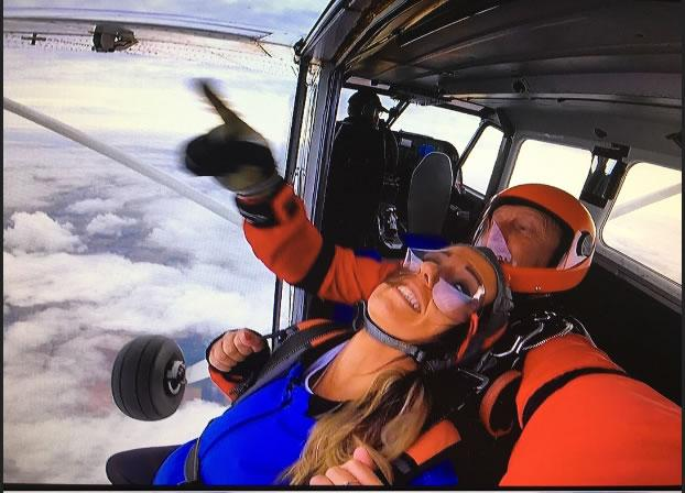 Agnes does Skydive for Charity